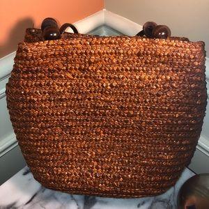 Vintage Vietnamese Handcrafted straw handbag.